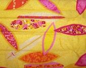 "Fat Quarter 18"" x 22"" Summer Dayz New Designer Fabric Surfer Surf Board"
