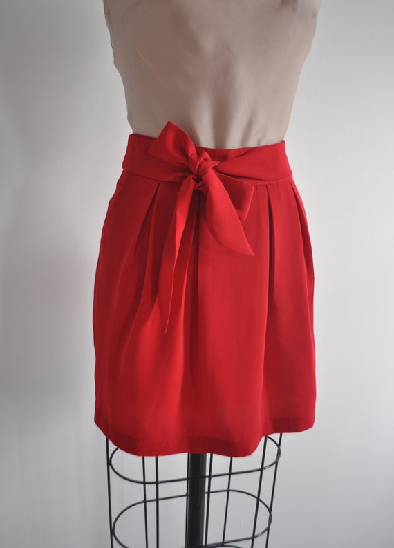 Joy Holiday red bow skirt XS S M L