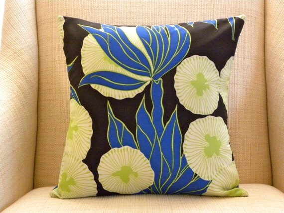 16 x 16 Pillow Cover - Vintage Mod Morning Glories