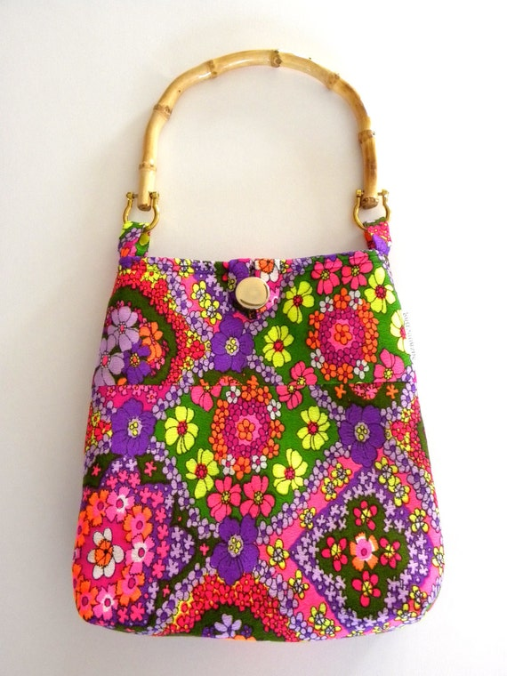 Reversible Evening Out Bag - Vintage Flower Power Day-Go