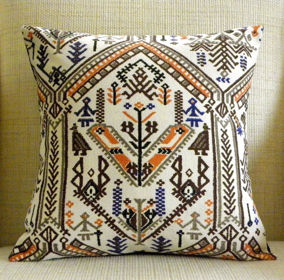 16x16 Pillow Cover - Mexican Folk Inspired (see video)