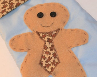 Business Man Gingerbread Stocking