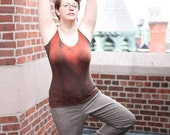 The Weena Yoga Top - Nutmeg and Blood
