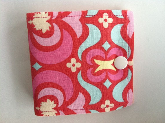 Needle Book with pocket in Amy Butler Garden Maze Fabric-SALE
