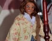 "1/12 Scale Dollhouse Doll - Handmade OOAK Woman - Polymer Clay - Posable - ""Kathrine Patricia"""