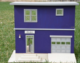 One Inch Scale - Police Station Dollhouse - Custom Made to Order