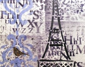 An Afternoon in Paris - Original Mixed Media Painting on Canvas 16 x 20 inches