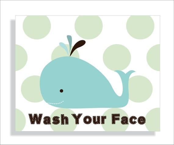 Whale Kids Bathroom Wall Art Print  Children  39 s wall art  Bathroom decor  Target inspired. Whale Kids Bathroom Wall Art Print Children  39 s by FieldandFlower