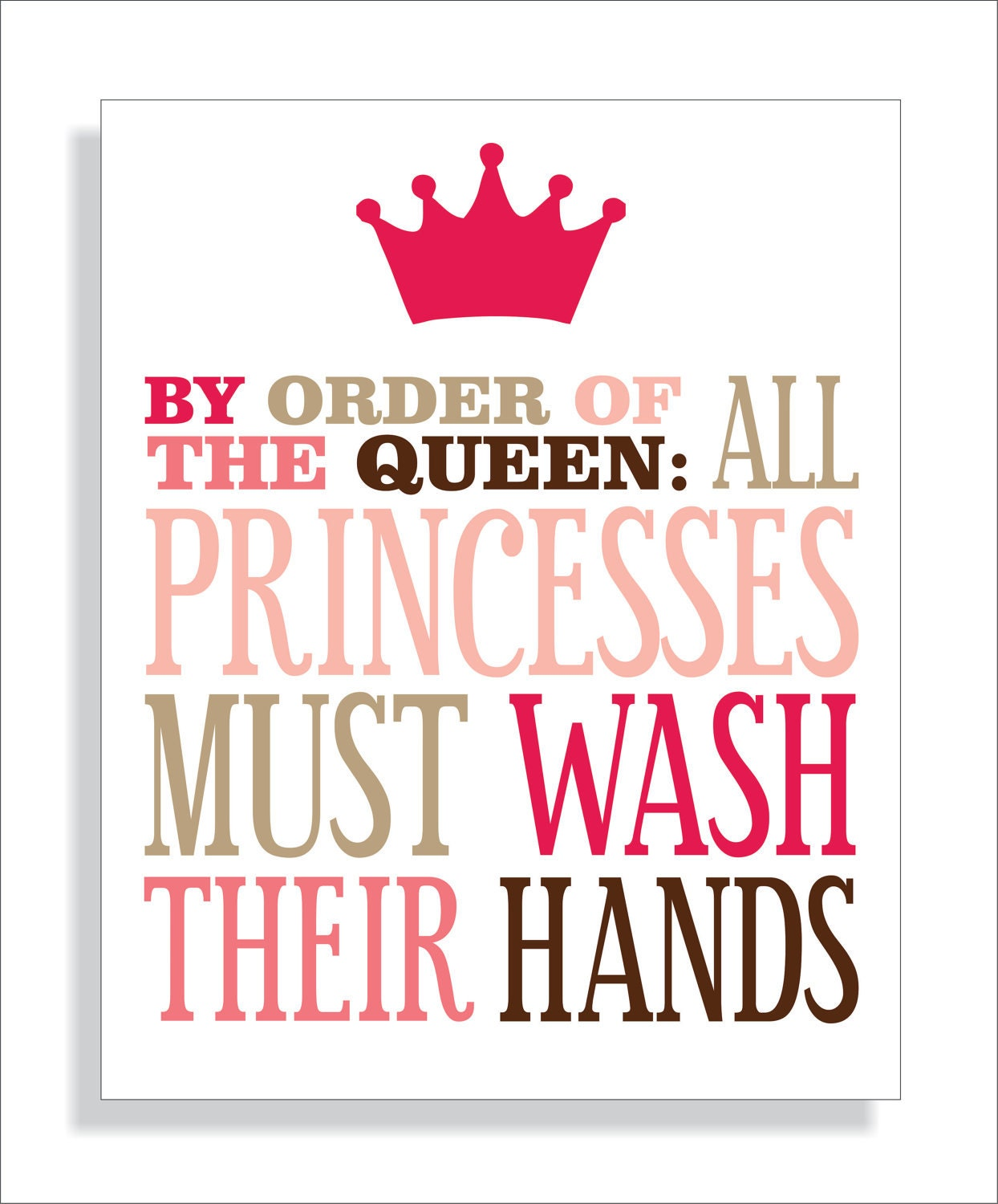 Bathroom Pic Girl: Princess Bathroom Art Print Girls Bathroom Wall By
