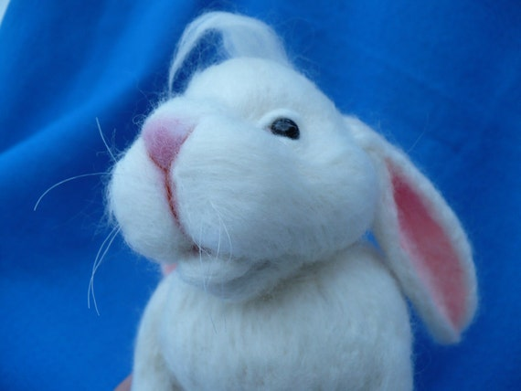 Needle felted Bunny, Rabbit ,Hare, Peter Rabbit, Peter Cottontail,