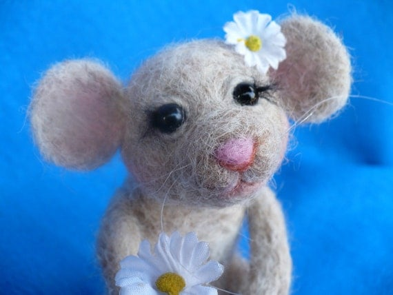 Collectible Needle felted, Mouse, Rat, OOAK,
