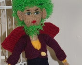 Fairy Prince Doll - CIJ - Handmade Doll - Knitted Doll - Mystical Doll - Fantasy Doll  - Toy Doll - UK Seller