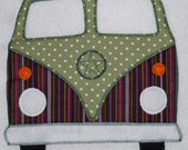 Appliqued Campervan Cushions Based on the VW Volkswagen Splitscreen Camper - Splitty