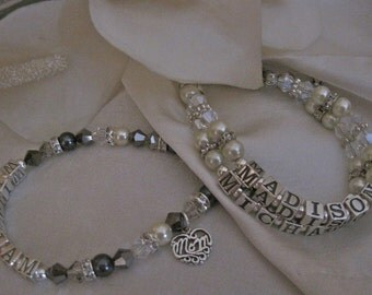 Mothers Name Bracelet-Perfect Mothers Day gift.