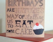 Eat More Cake - Greeting card.