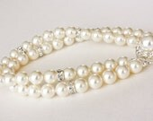 Two Strand Cream Pearl Bracelet