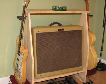 Handcrafted Custom Guitar Amplifier and Guitar Stand by AllGoodWood