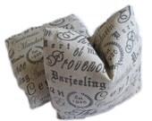 Pillow - Linen - French Tea - Document print