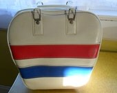Red White and Blue Vintage Bowling Bag