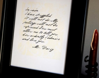 Mr. Darcy's Proposal 8x10