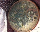 Patina Powder Dish Keepsake Box Antique