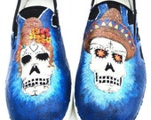 Day of the Dead Shoes Size 8 men