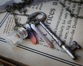 Slither and Key Necklace