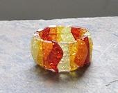 SALE Amber bracelet 3 tone