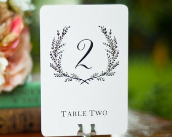 Sweet Vintage Wedding Table Number Signs 1-15 - White or Cream Stock