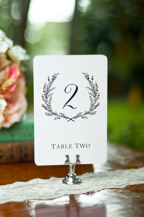 Sweet Vintage Wedding Table Number Signs 1 15 White Or Cream