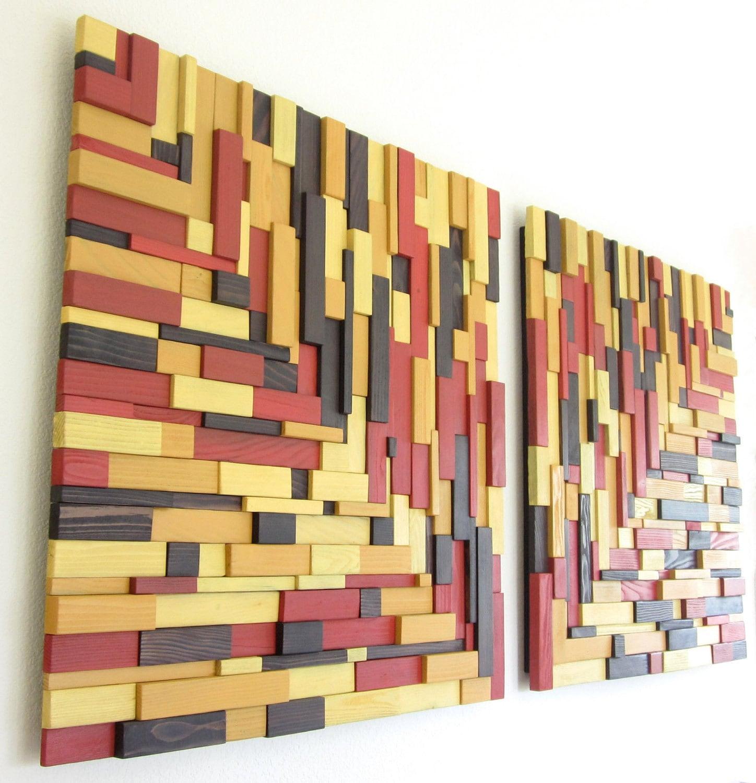 Rustic Modern Wall Art Reclaimed Wood Wall Art By