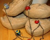 Multi glass bead necklace