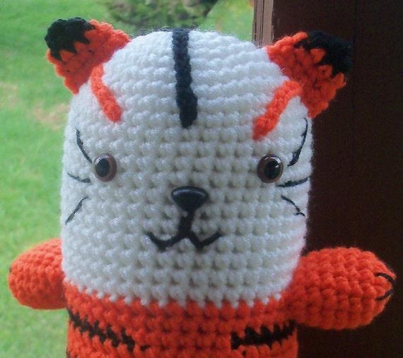 Amigurumi Tiger - Hand Crocheted Tiger (Finished Doll)
