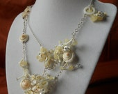 Chunky, White, Sea Shell and Bead Necklace