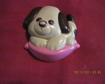 VINTAGE Puppy Love Glace Pin   Avon 1975 number 6