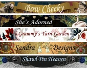 Custom Etsy Shop Banner And Avatar - Bow Cheeky Creations