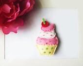 Sweet Cupcake Hair Clip Left
