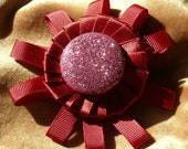 Sparkling Flower Brooch in Red by nevitas on etsy Easter Sale 30%