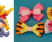 Pooh Bear and Friends Mini Hair Bows Set