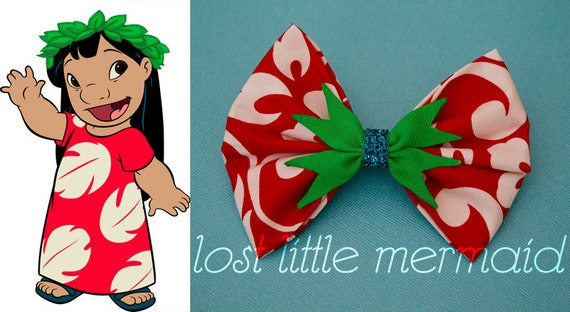 "Lilo and Stitch Inspired Hawaiian Hair bow - ""I Just Wanna Dance"""
