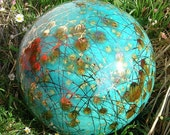 Garden Art by Anna- Garden Globe Aqua Color