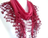 Traditional Turkish-style,  Burgundy, Necklace scarves,Headband, scarf, gift,  2012, Special Fashion, spring celebration, mothers day