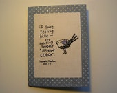 If You're Feeling Blue. . .Paint Yourself A Different Color Greeting Card