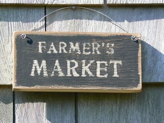 Farmer's Market - Rustic Wood Sign