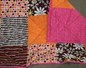 Modern Pink and Orange Quilt