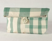 Pouch Foldover Patchwork Cosmetic Purse Makeup Bag
