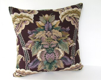Ready to Ship!!! Designer Pillow Purple Throw Pillow Fleur-De-Lis