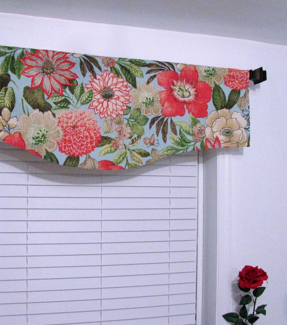 Pindler & Pindler  Shaped Curtain Valance Window Topper Handmade in the USA