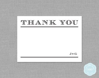 Sophistication Personalized Thank You / Note Card (DIY / Printable)