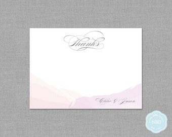 Watercolor Unity Personalized Thank You / Note Card [Printable | DIY | Digital File]
